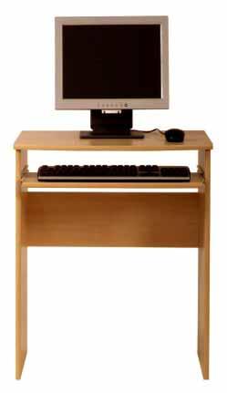 Black Red White Minimalistický PC stůl TIP TOP, TBIU 60, olše medová