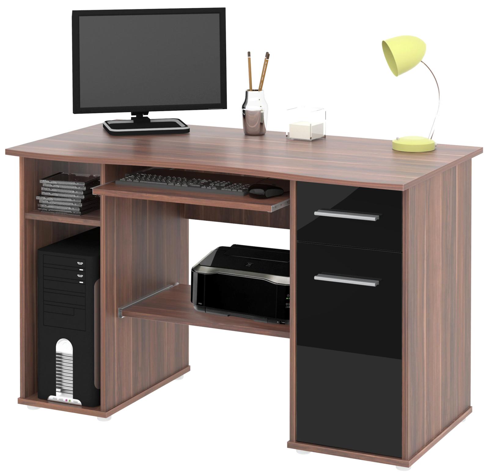 PC stůl SAMUEL švestka/černá HGS MB Samuel-švestka/černá HGS