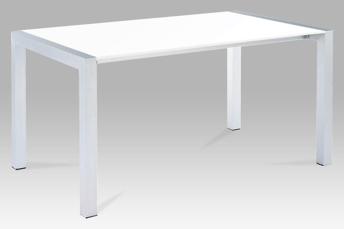 Autronic Jídelní stůl rozkládací WD-5825-1 WT, alu/bílý