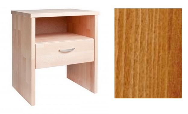HP nábytek Noční stolek NS ERIK, masiv buk cink - MOŘENÍ třešeň DOPRODEJ