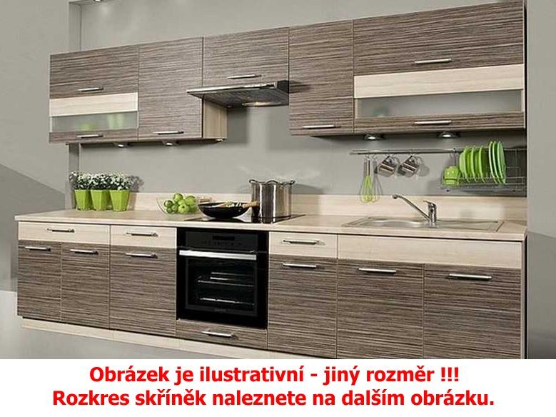 Extom Kuchyně KAMMDUO 260, zebrano/hruška