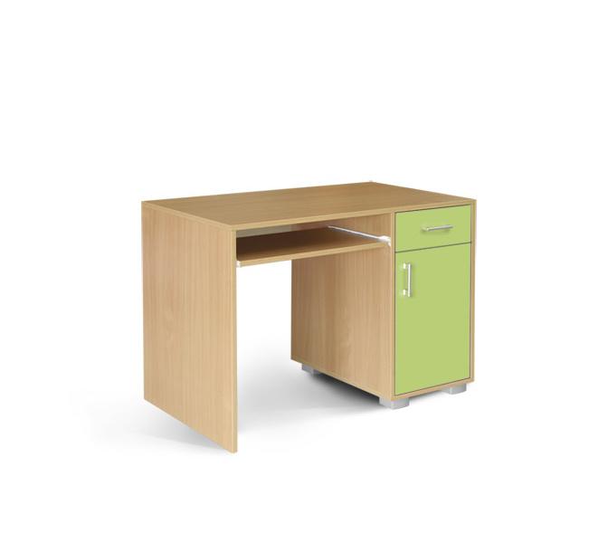 MATIS Dětský PC stůl BAMBI 1F1V, buk/zelená