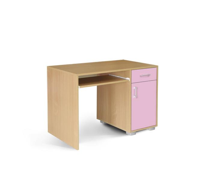 MATIS Dětský PC stůl BAMBI 1F1V, buk/růžová