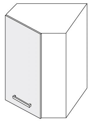 Extom *PLATINUM, skříňka horní rohová W9 60, korpus: jersey