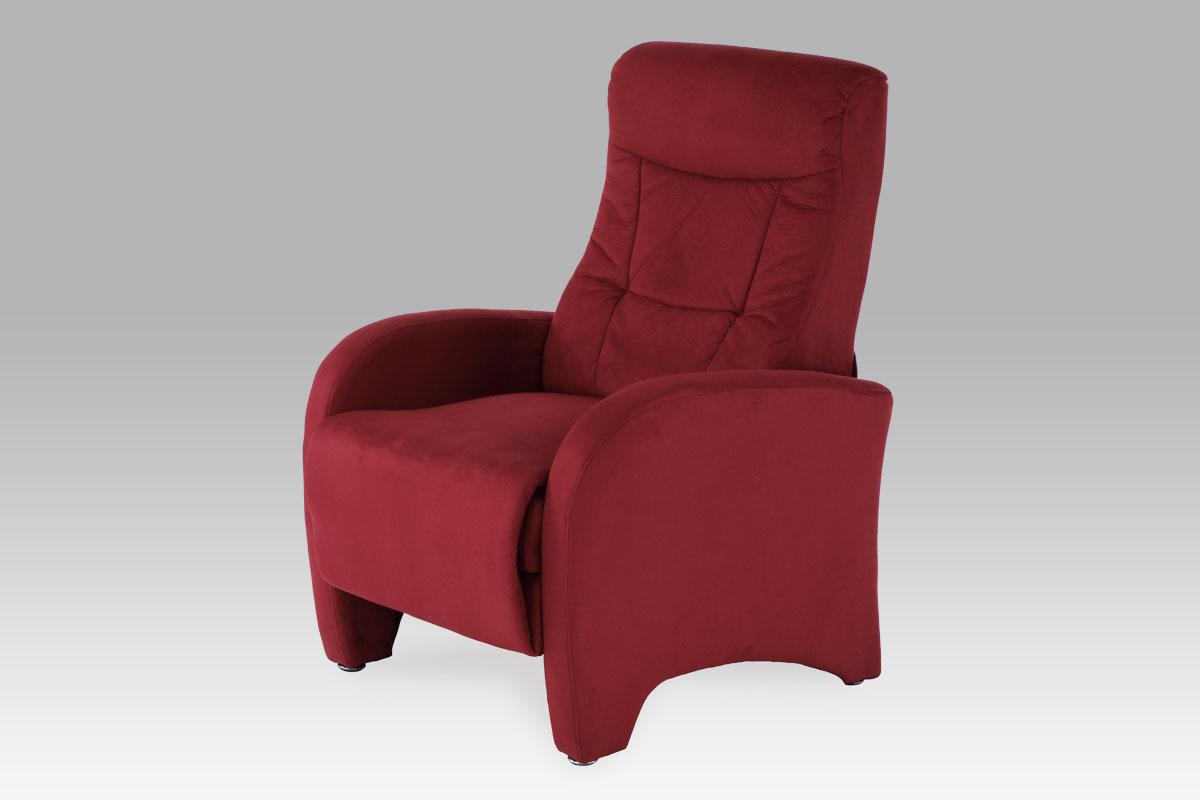 Autronic Křeslo relaxační TV-7027 RED2, látka červená