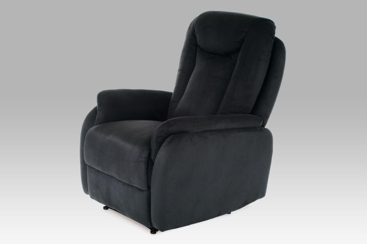 Autronic Křeslo relaxační TV-7039 BK2, látka černá