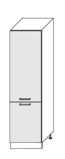 Extom *PLATINUM, skříňka pro vestavnou lednici D14DL 60,korpus: jersey