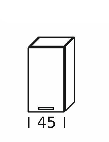Extom KAMDUO, horní skříňka DUO W45, hruška/ořech