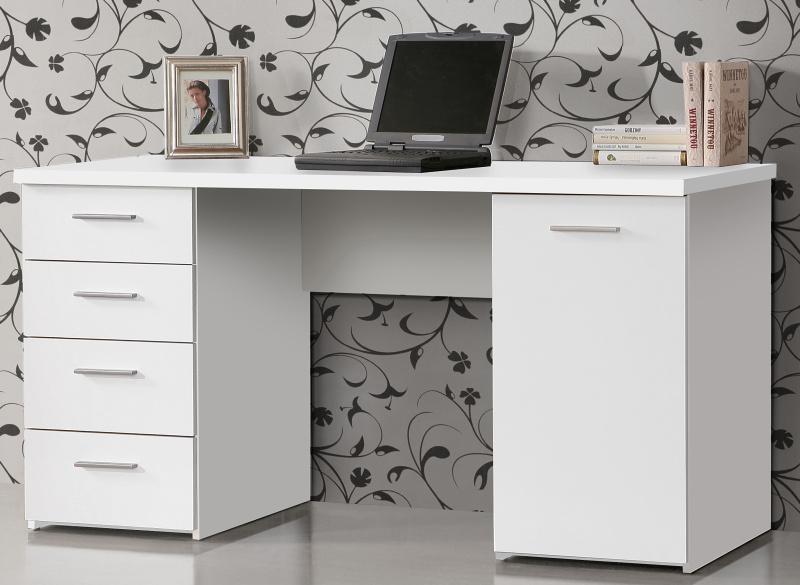 Forte NET106, psací stůl MT926, bílý uni mat