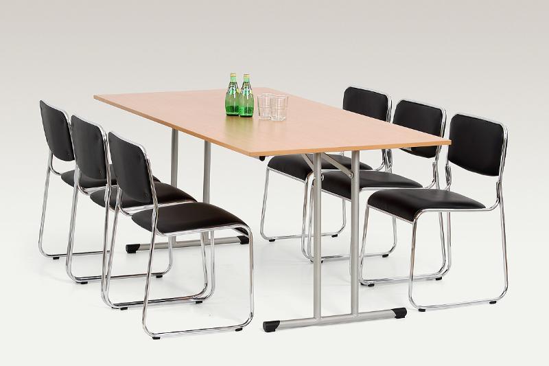 Halmar Jídelní stůl GORDON 100x180, buk/kov