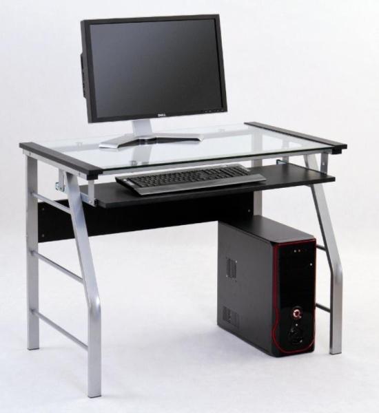 Halmar Skleněný PC stůl B-18