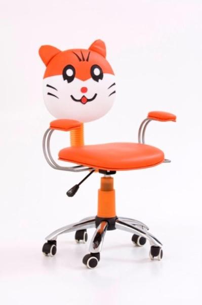 Halmar Dětská židle JEFRY, oranžová/krémová