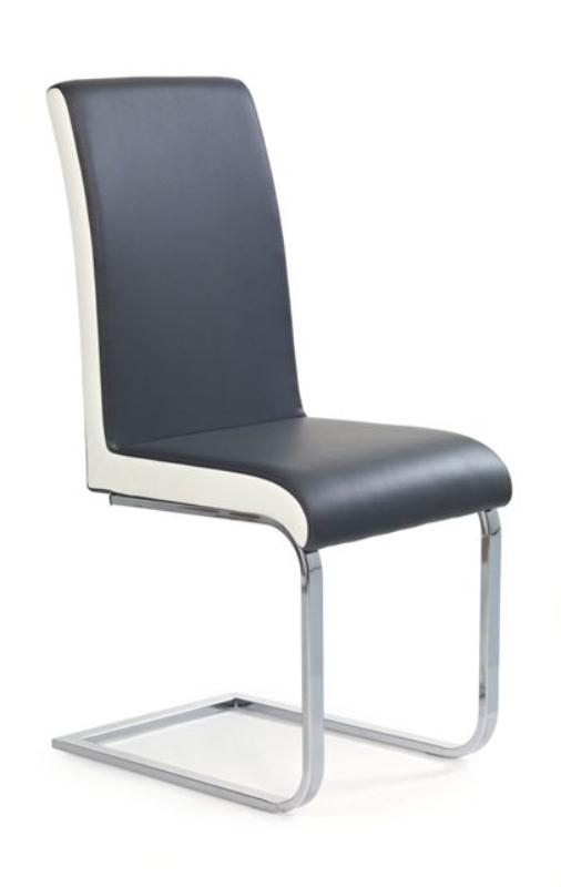 Halmar Židle K103, šedá/bílá