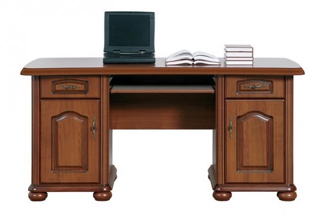 Black Red White Klasický PC stůl se zásuvkami a skříňkami NATALIA, BIU/160, višeň primaver