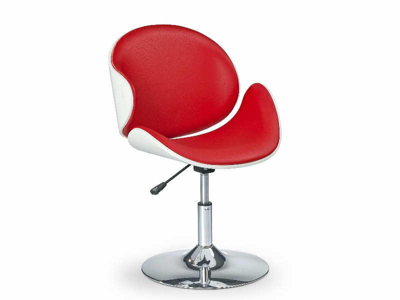 Halmar Barová židle H-42, bílá/červená