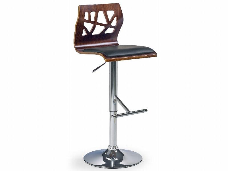 Halmar Barová židle H-34, ořech/černá
