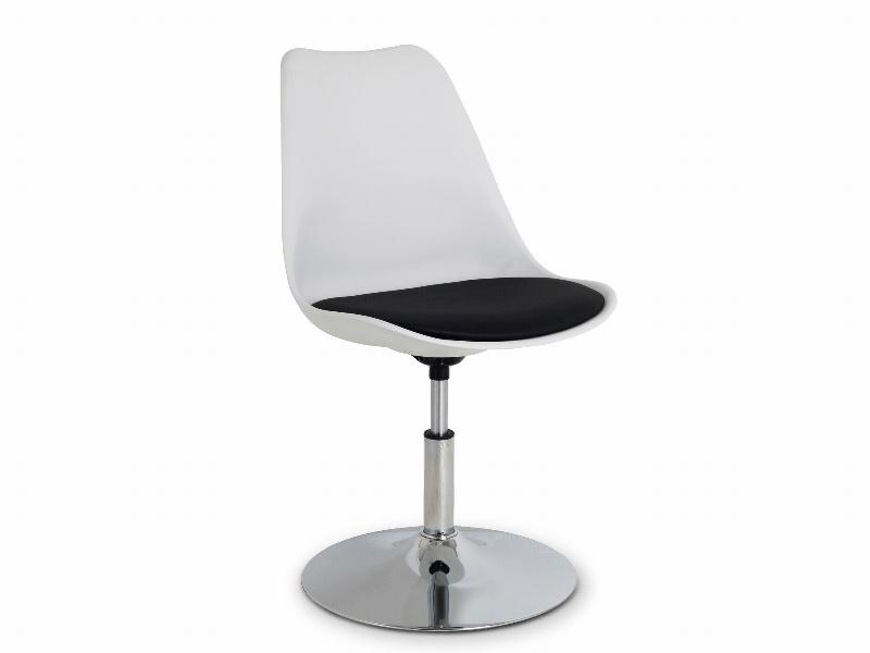 Halmar Dětská židle COCO III, bílá/černá