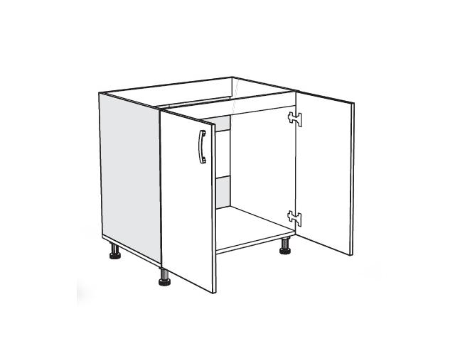 MATIS IN, dolní skříňka dřezová D80 S, bordó