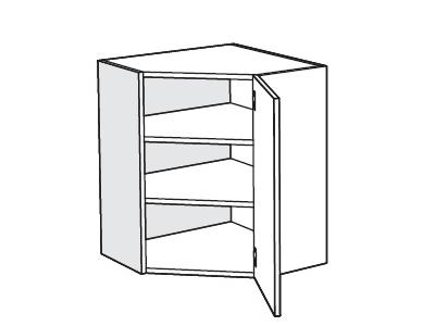 MATIS IN MDF, horní rohová skříňka VU60, béžová lesk