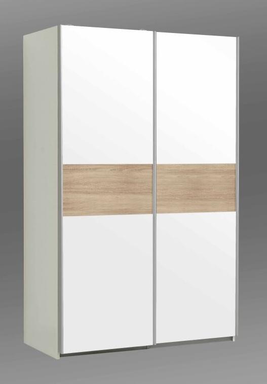 Forte OHIO, šatní skříň OHS823E1, bílá/dub sonoma