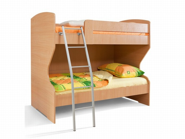 MATIS BAMBI/HAPPY, patrová postel, buk