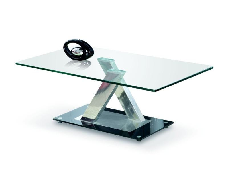 Halmar Konferenční stolek XARA, kov/sklo