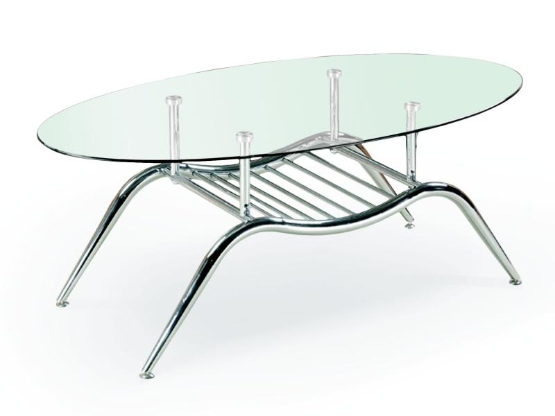Halmar Konferenční stolek AGNES, kov/sklo