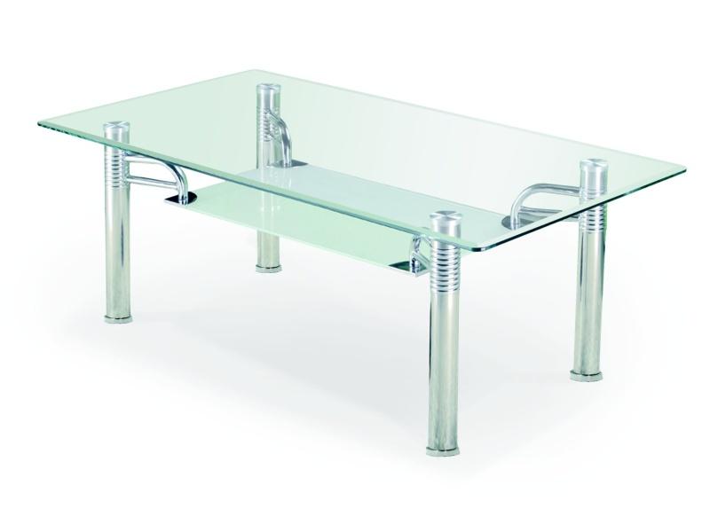 Halmar Konferenční stolek EDNA, kov/sklo
