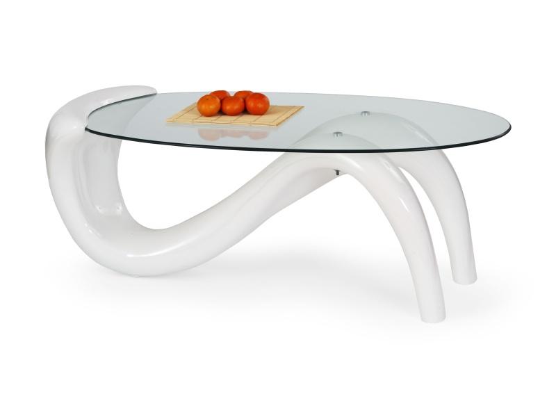 Halmar Konferenční stolek CORTINA, bílý