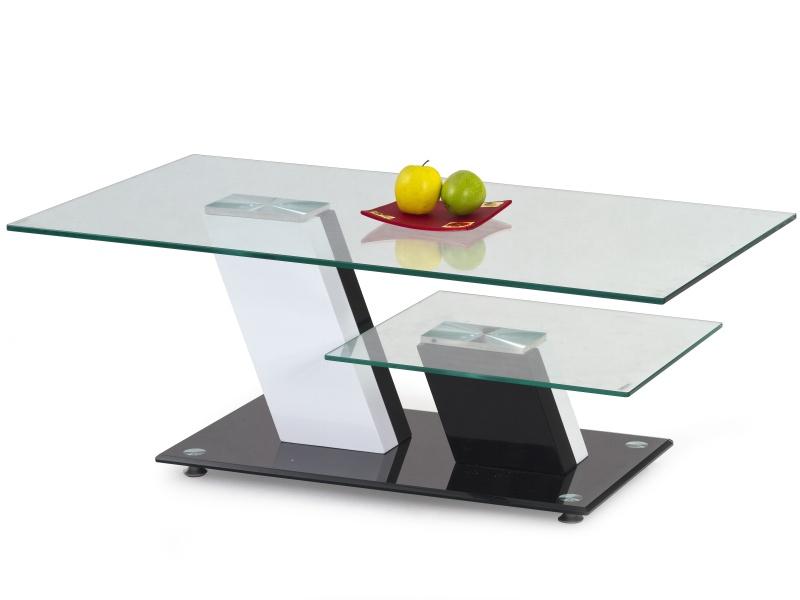 Halmar Konferenční stolek SAVANA,bílá/černá
