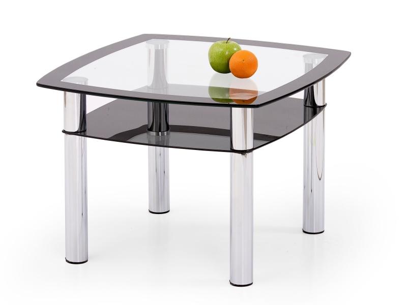 Halmar Konferenční stolek SALOME KWADRAT, kov/sklo