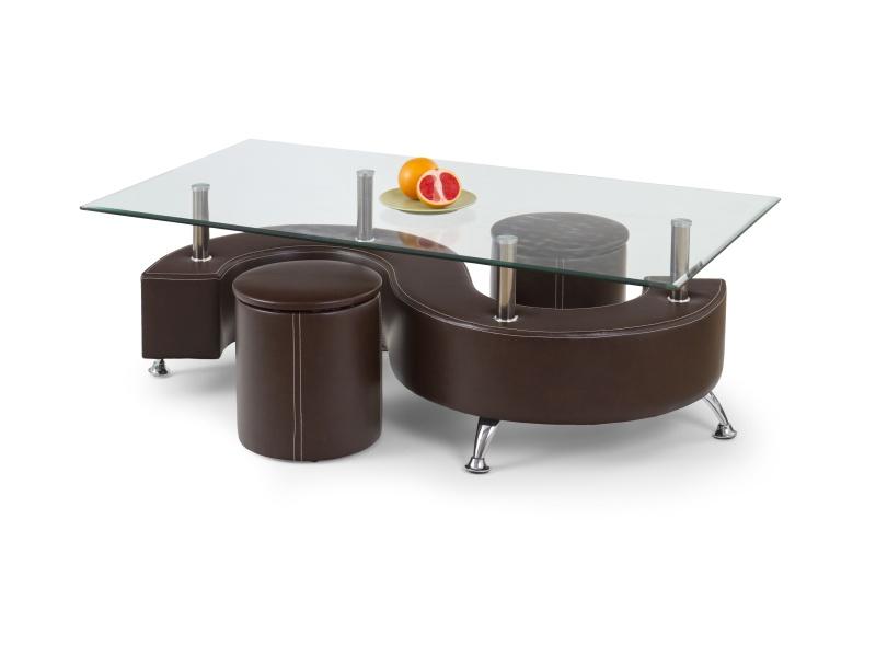 Halmar Konferenční stolek NINA 3, hnědá