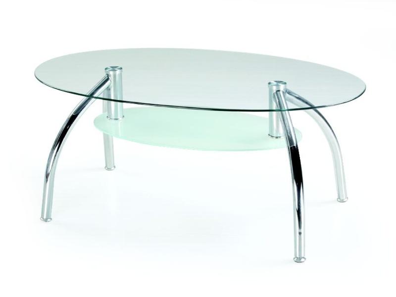 Halmar Konferenční stolek BERTA, kov/sklo