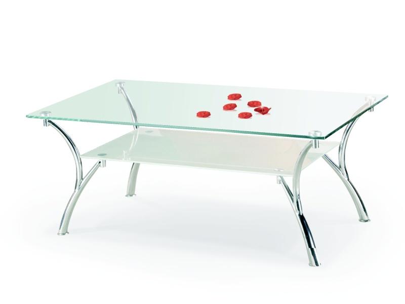 Halmar Konferenční stolek CARMEN, kov/sklo