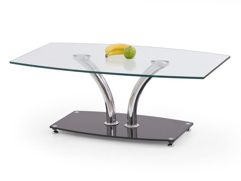Halmar Konferenční stolek PAULA, kov/sklo