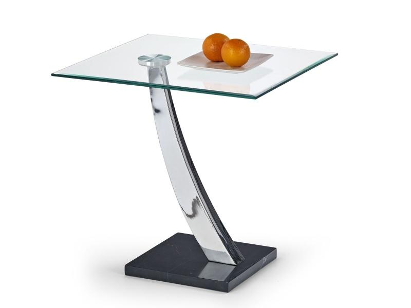 Halmar Konferenční stolek SERENA, kov/sklo