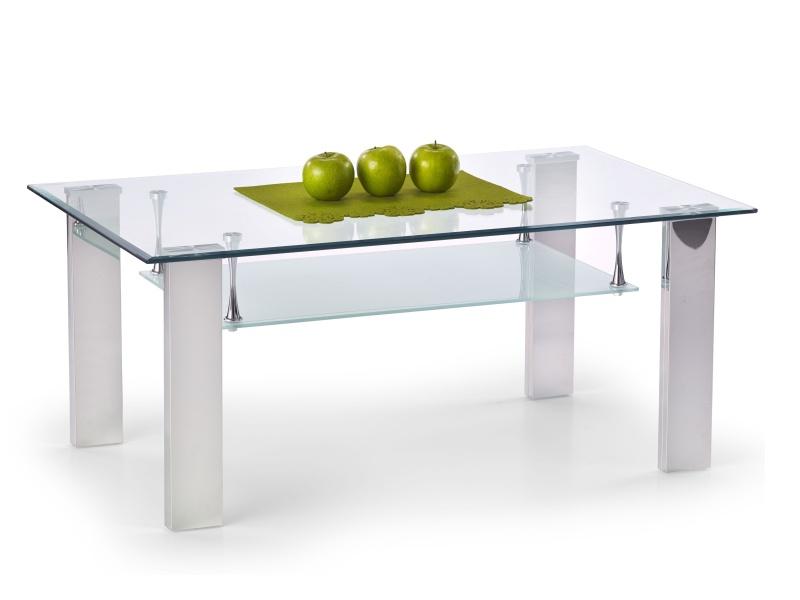 Halmar Konferenční stolek BRISA, kov/sklo
