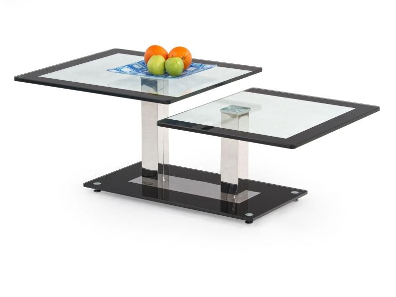 Halmar Konferenční stolek NEVADA, kov/sklo