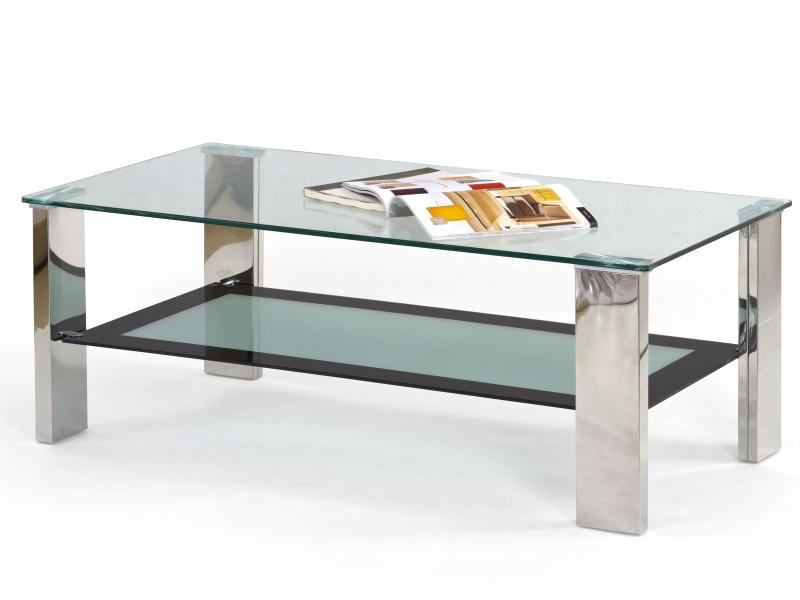 Halmar Konferenční stolek FRIDA, kov/sklo