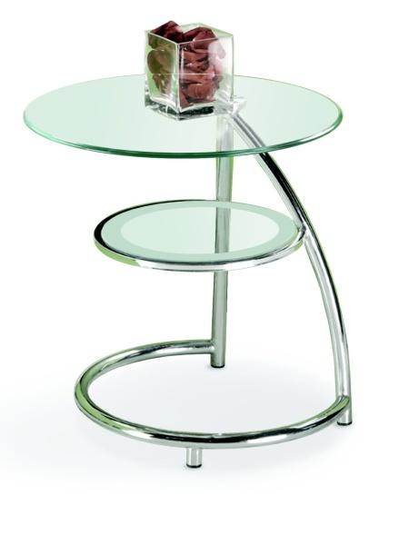 Halmar Konferenční stolek LUNA, kov/sklo
