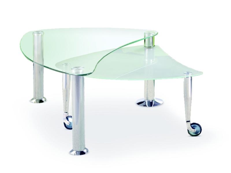 Halmar Konferenční stolek TESS, kov/sklo