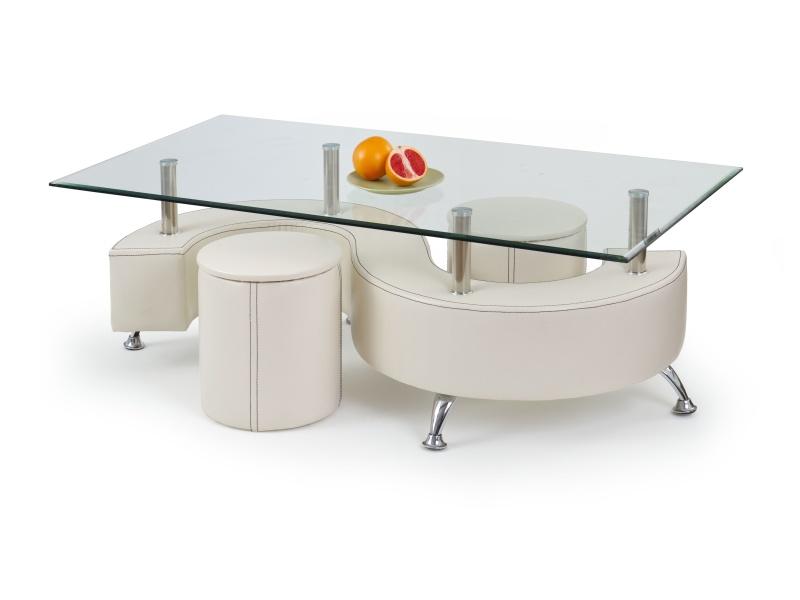 Halmar Konferenční stolek NINA 3 H, krémová
