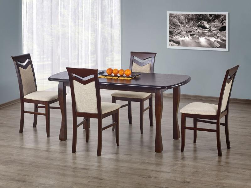 Halmar Jídelní stůl rozkládací HENRYK, ořech tmavý