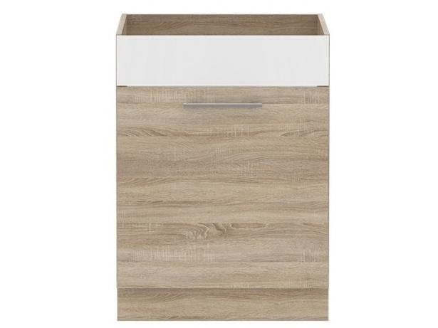 Forte MULTIFORTE, dřezová skříňka 60, dub sonoma/bílý lesk