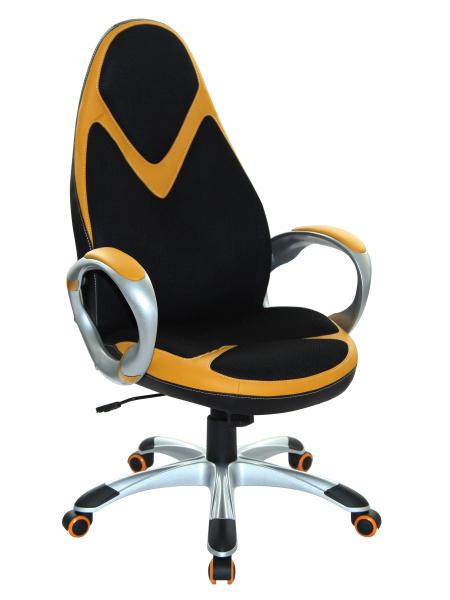Halmar Kancelářské křeslo AMOS, černá/oranžová