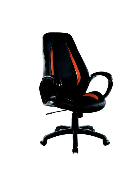 Halmar Kancelářské křeslo TIGER, černá/oranžová