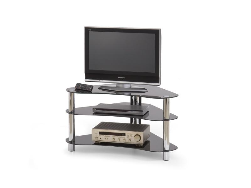 Halmar Televizní stolek RTV-13, sklo černé
