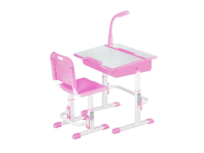 Halmar Dětský psací stůl a židle ASTRO 2, růžová