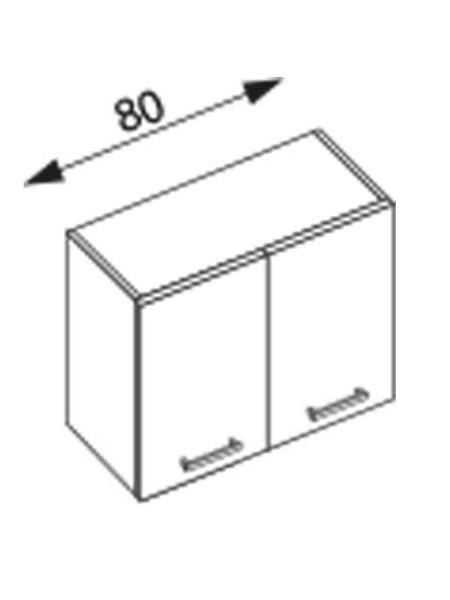 Halmar AMANDA 1, horní skříňka W80, ořech viva