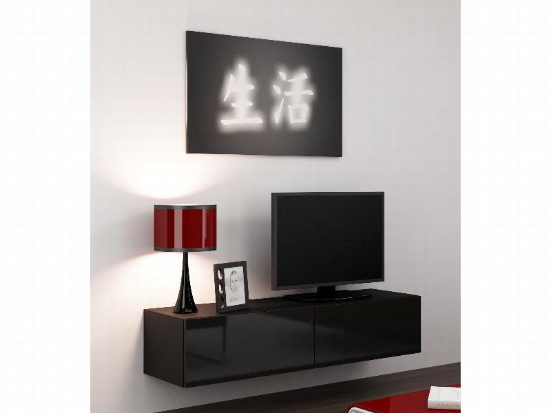 "CAMA Televizní stolek VIGO ""140"", černá/černý lesk"